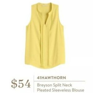 41 Hawthron Breyson Splitl Neck Pleated Blouse